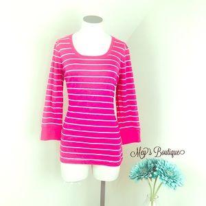 ⭐️Jones New York Pink & White Striped Top⭐️